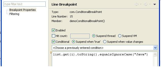 featured Conditional Breakpoint eclipse java